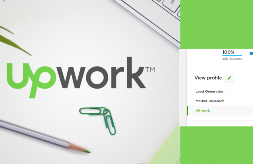 Fill in a 100% Upwork profile to get a better chance for the first project